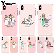 Yinuoda Médico Enfermeira Hot Moda Dos Desenhos Animados caixa do telefone para o iPhone Da Apple 8 7 6 Dinâmica Divertida 6S Plus X XS max 5 5S SE XR Tampa(China)