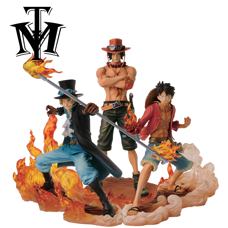 Us 31 97 27 Off Anime Figure One Piece Monkey D Luffy Ace Sabo Pvc Hot Kids Toy Action Figure Model Collection Brinquedos Gift Doll Original Box In