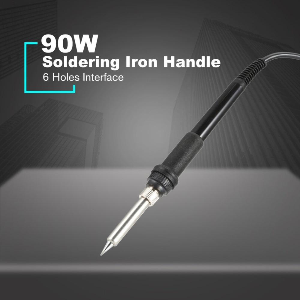 90W Electronic Soldering Iron Heated PVC Handle Welding Tool Solder 6 Holes Rework Repairing Tool Solder Pen Universa