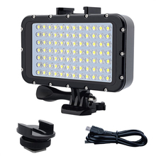 50 M étanche plongée LED veilleuse 84 LED lumière vidéo éclairage photographique lampe de plongée pour Gopro Hero 3/3 +/4/4 S/5/5 S/6