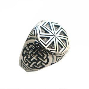 Image 4 - Taille 6 à taille 14 unisexe Cool 925 argent Vikings slave roue amulette anneau