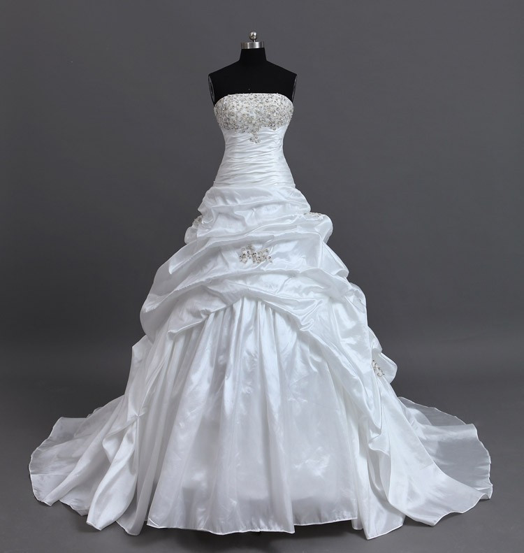 In Stock Free Shipping White/Ivory Elegant Ball Gown
