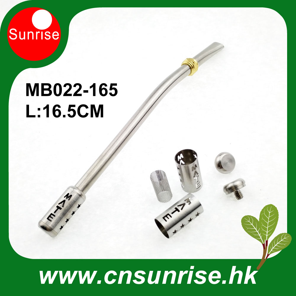 200pcs Lot 2017 Latest Reusable Stainless Steel Yerba Mate Straw With Double Filter Hot Sale MB022