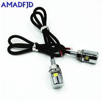 AMADFJD 100 Pair High quality Car Motorcycle General White SMD LED License Plate Stud Screw Bolt Light Lamp