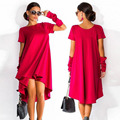 2016 New Brand Midi Women Dress Summer Style Tunic Boho Ladies Dresses Party Women Dress