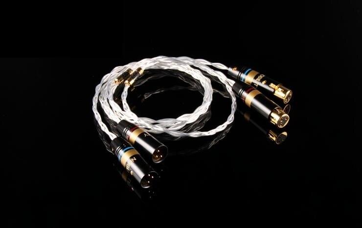 OCC monocristallin cuivre argent plaqué ligne d'équilibre XLR câble d'équilibre