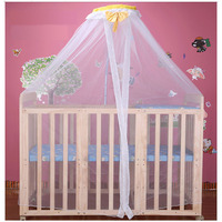 multifunctional solid wood without paint cribs variable desk baby bed children shaker with roller bed nets game bed