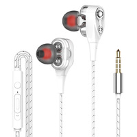 computer cell phone Fanshu 3.5mm Wired High bass Dynamic stereo In-Ear Earphones With Microphone Computer earbuds For Cell phone fone de ouvido (4)