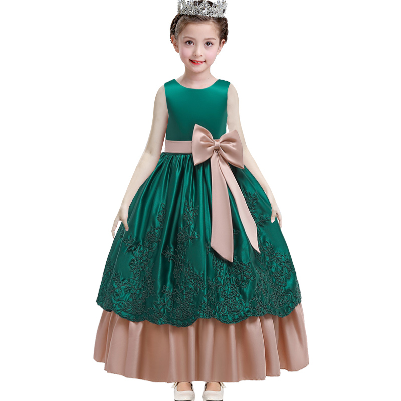 Pageant Dresses For Girls Long Princess Dress Wedding Girls Clothes Baby Costume First Communion Ball Gown Evening Dresses