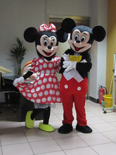 High-quality 1 PIC adult size red  Minnie Mascot costume   Adult size Mascot costume Free shipping