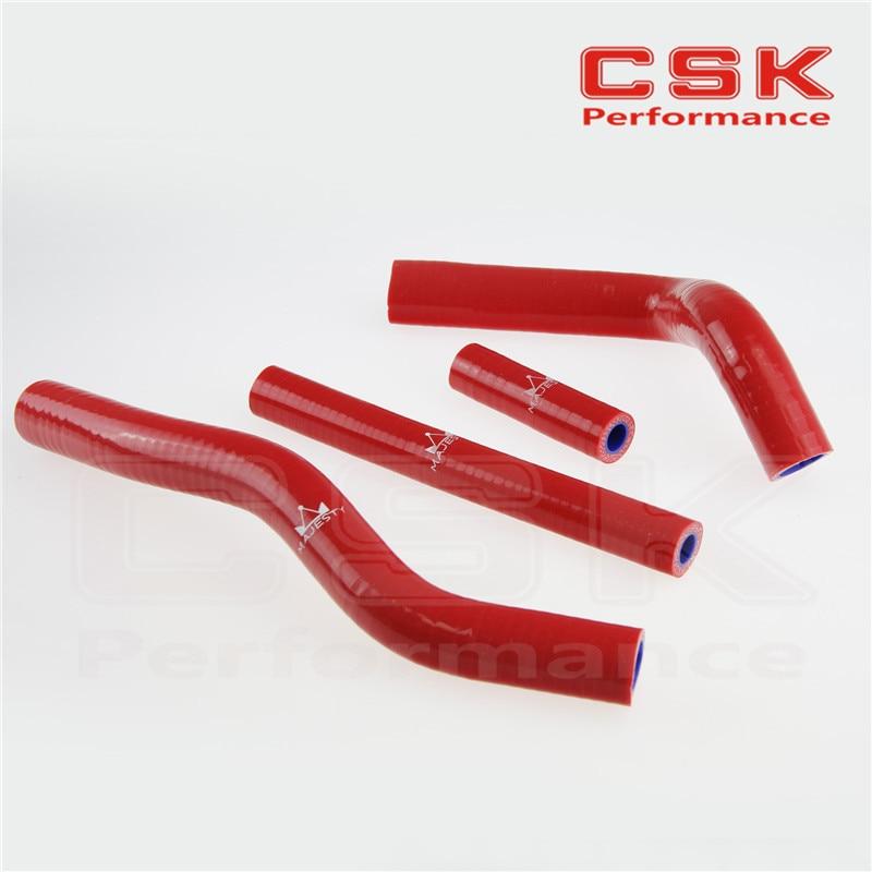 Силиконовый радиатор охлаждающей жидкости шланг для Suzuki RM125 RM 125 2001-2008 02 03 04 05 красный