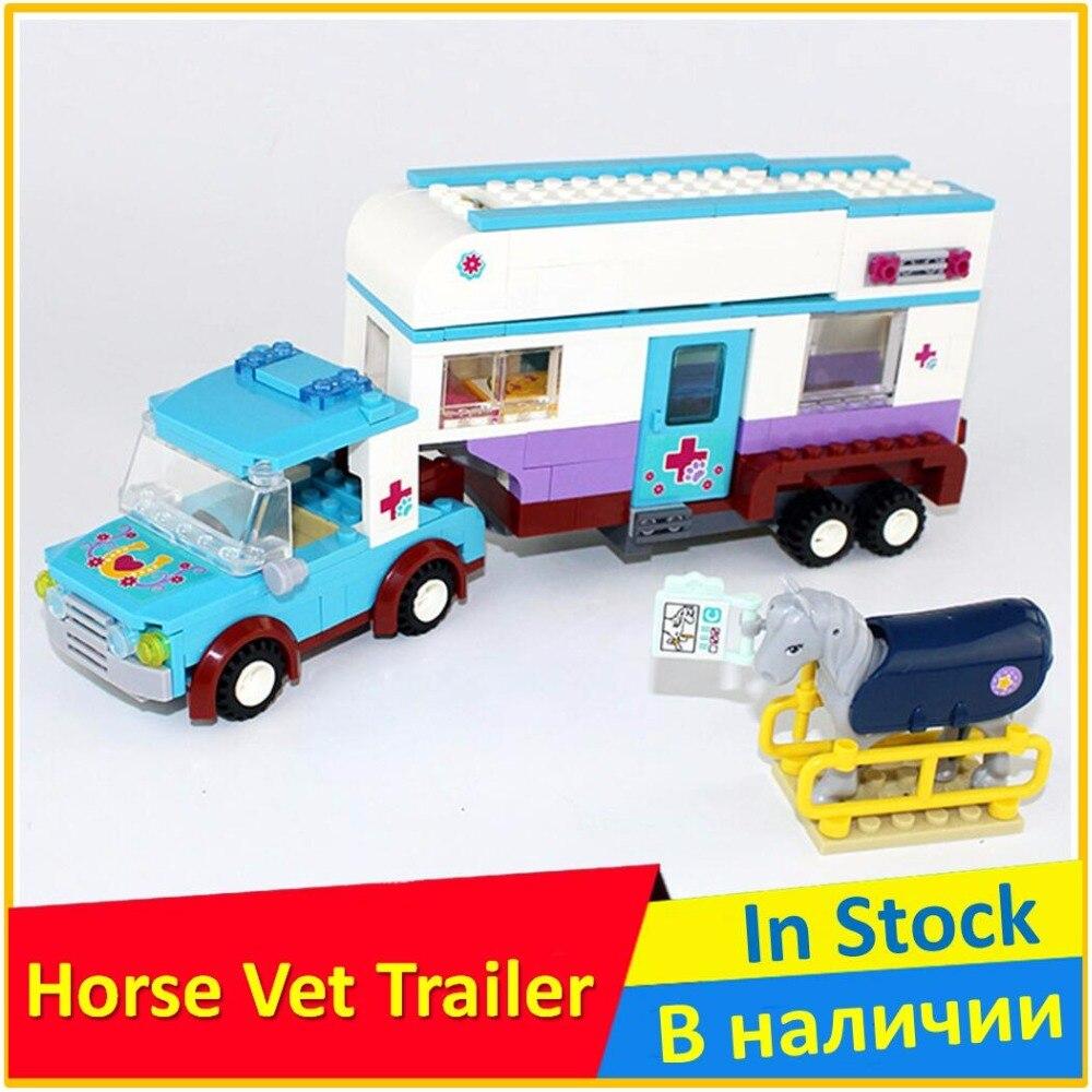 Vétérinaire cheval Remorque 41125 blocs de construction jouets maquettes éducatives Pour Enfants BELA 10561 Compatible legoed Amis Briques Figure