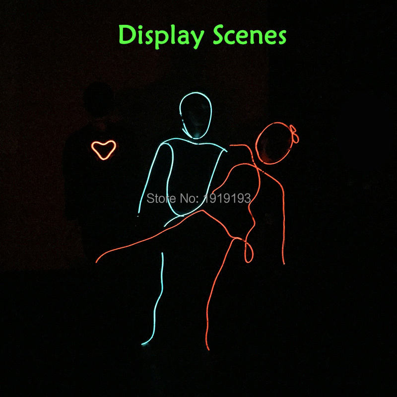 New Arrival 5Pieces Light Up Led Strip Illuminated Matchstick Beauty Suit Fashion EL Rope Tube Fancy Dress Accessory with Drive new arrival 5 pieces lot od100 10mm