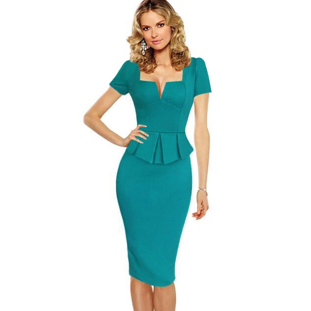 Peplum Dress Sleeves Promotion-Shop for Promotional Peplum Dress ...