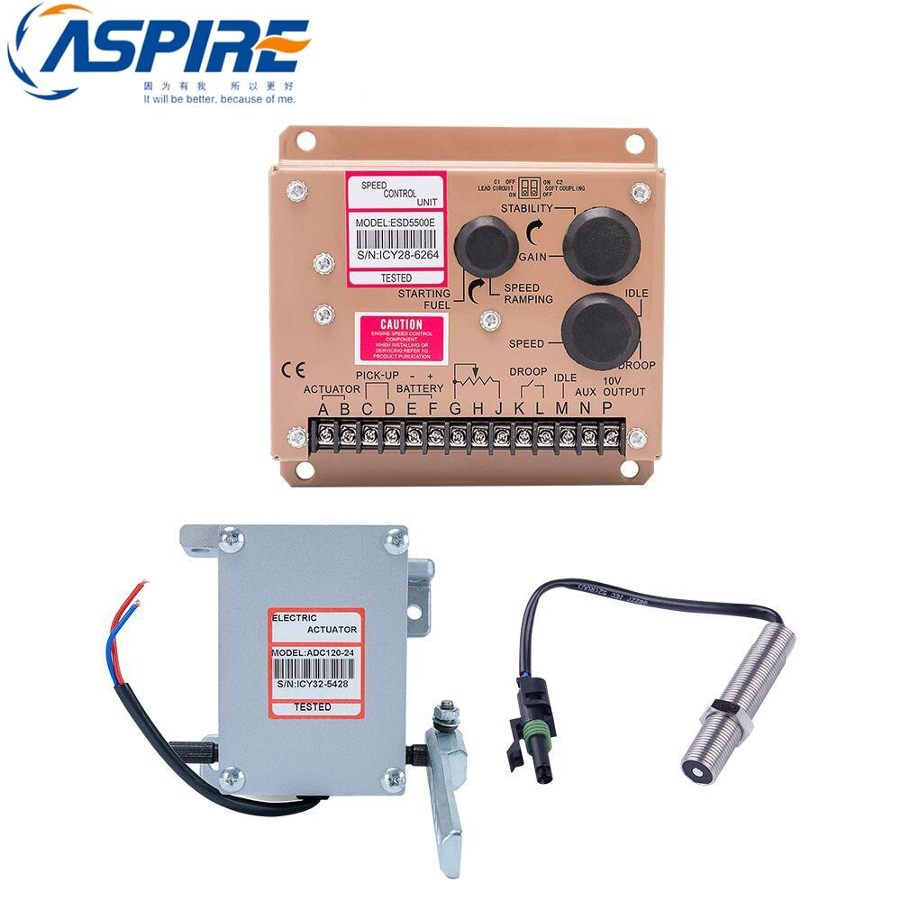 actuator ADC120-12V + ESD5500E speed controller governor + speed sensor 3034572 MPUactuator ADC120-12V + ESD5500E speed controller governor + speed sensor 3034572 MPU