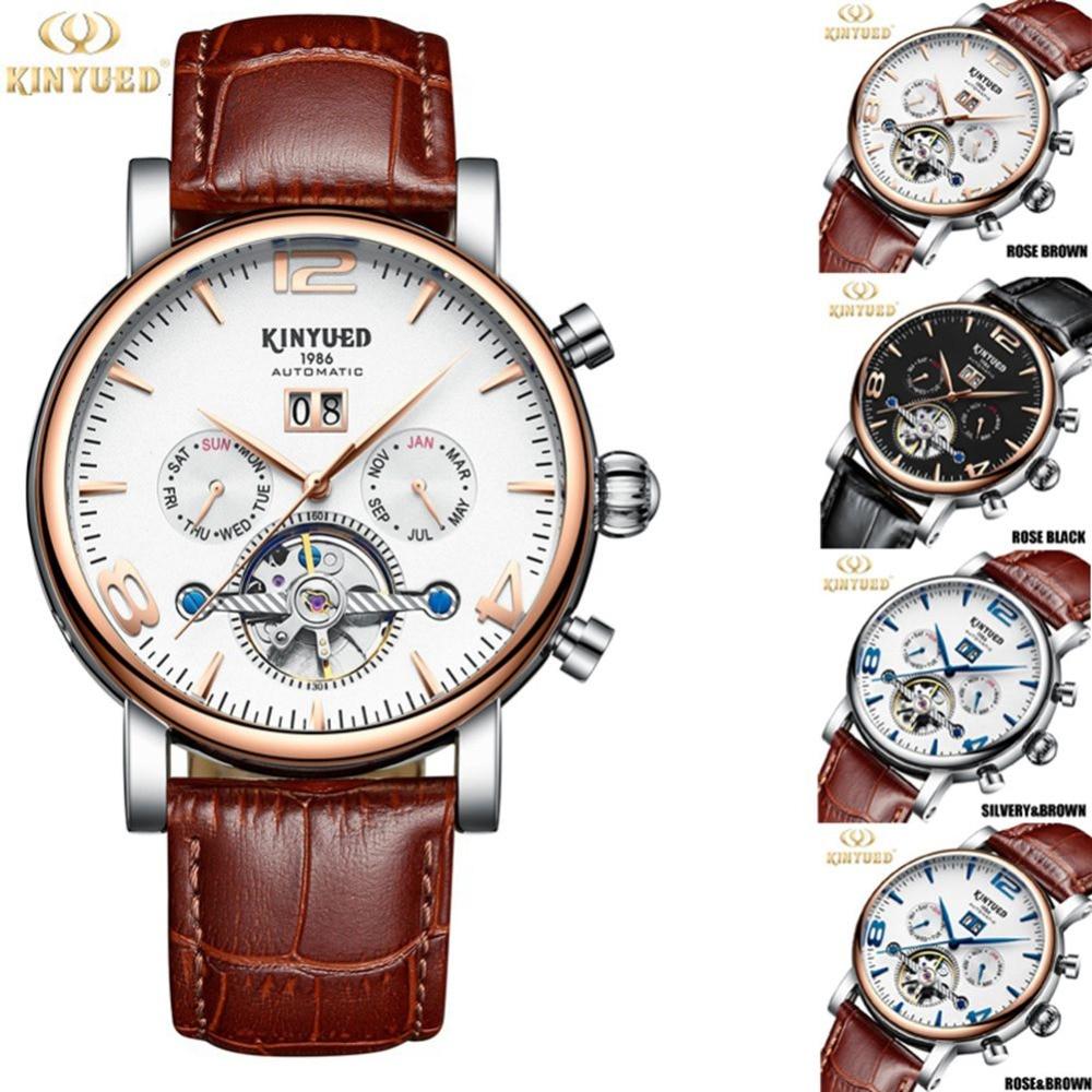 KINYUED Watch Men Skeleton Automatic Mechanical Watch Gold Skeleton Vintage Watch Men Top Brand Luxury Relogio Masculino #3 все цены