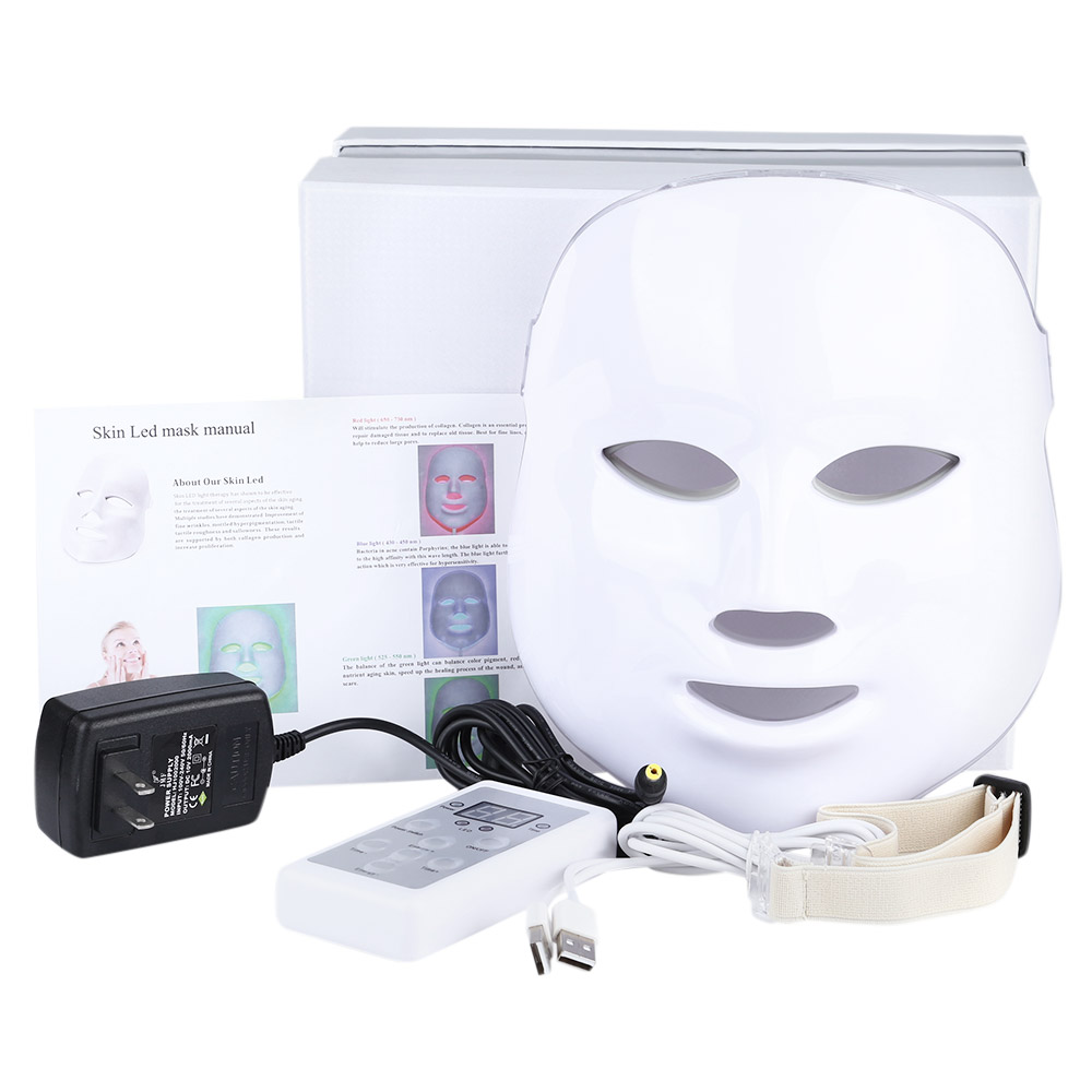 Professional Skin Photon LED Facial Mask Machine Whitening Anti-Acne Rejuvenation Wrinkle Removal Beauty Instrument Skin Device ckeyin ultrasound facial skin care led light photon rejuvenation cleaner therapy device beauty massage acne wrinkles machine