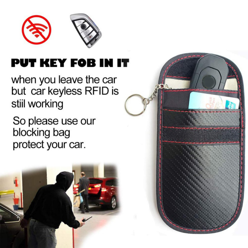 2020 RFID Signal Blocking Bag Cover Signal Blocker Case Faraday Cage Pouch For Keyless Car Keys Radiation Protection Cell Phone 5