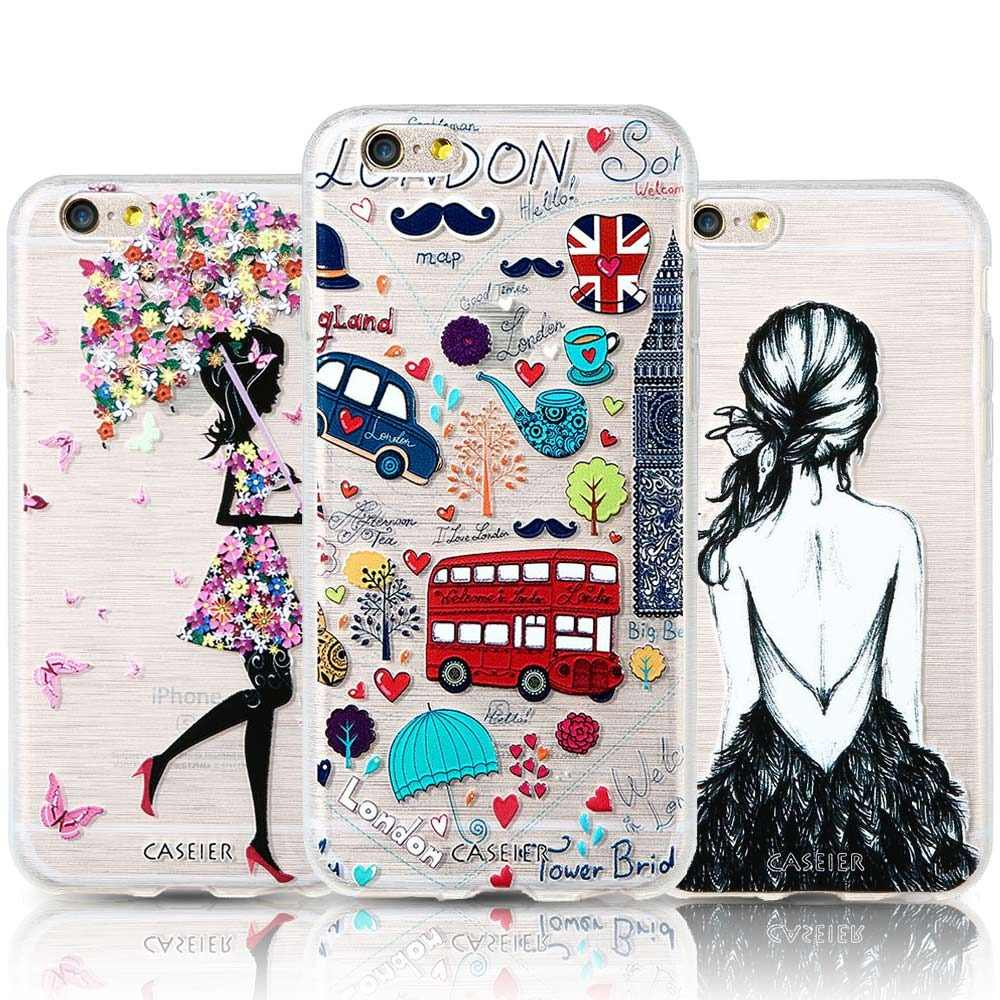 CASEIER Fashion Patterned Phone Cases For iPhone 7 8 Plus Soft Silicone Cover For iPhone 6 6s Plus X XS MAX XR 5S Funda Capinha