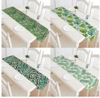American fresh tropical plant printing table flag Thickened heavy cotton linen tablecloth table cover towel bed towel