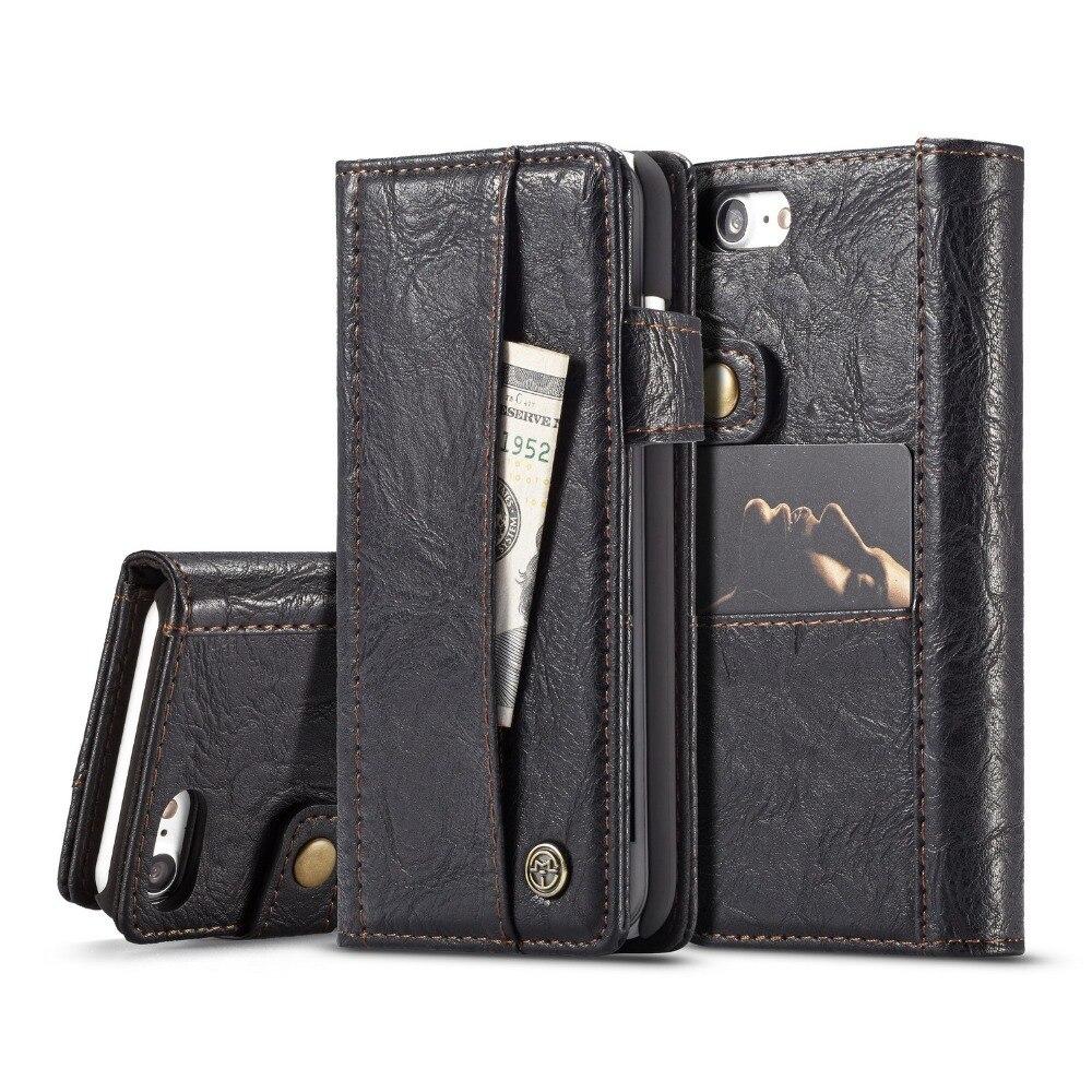 Flip Folio Case for iPhone 7 7 Plus Luxury Retro PU Leather Magnetic Phone Cover Cases for Apple iPhone 7 7Plus Coque Capa