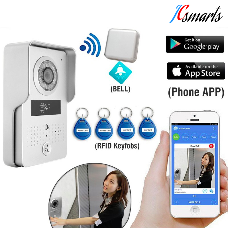Waterproof wifi intercom system IP video door phone wireless wifi door bell with HD camera call to android/ios phone/tablet wireless video call ip camera kit with door magnetic door alarm super high voice quality voip phone