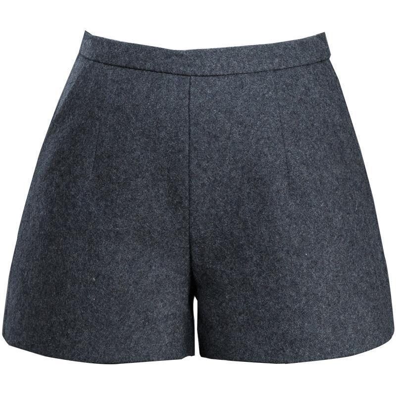 Fitness Woman Claquettes Femme D Ete Women Autumn Winter Invierno A Line High Waist Loose Rok Woolen Mini corto Shorts Trousers