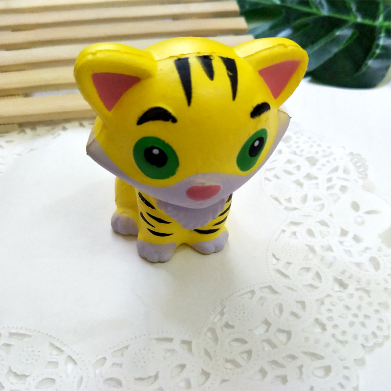 Squishy Toy Kawaii Tiger Antistress Toy Soft Slow Rising Jumbo Squeeze Toys For Kids Stress Relief Funny Novelty Gag Gift
