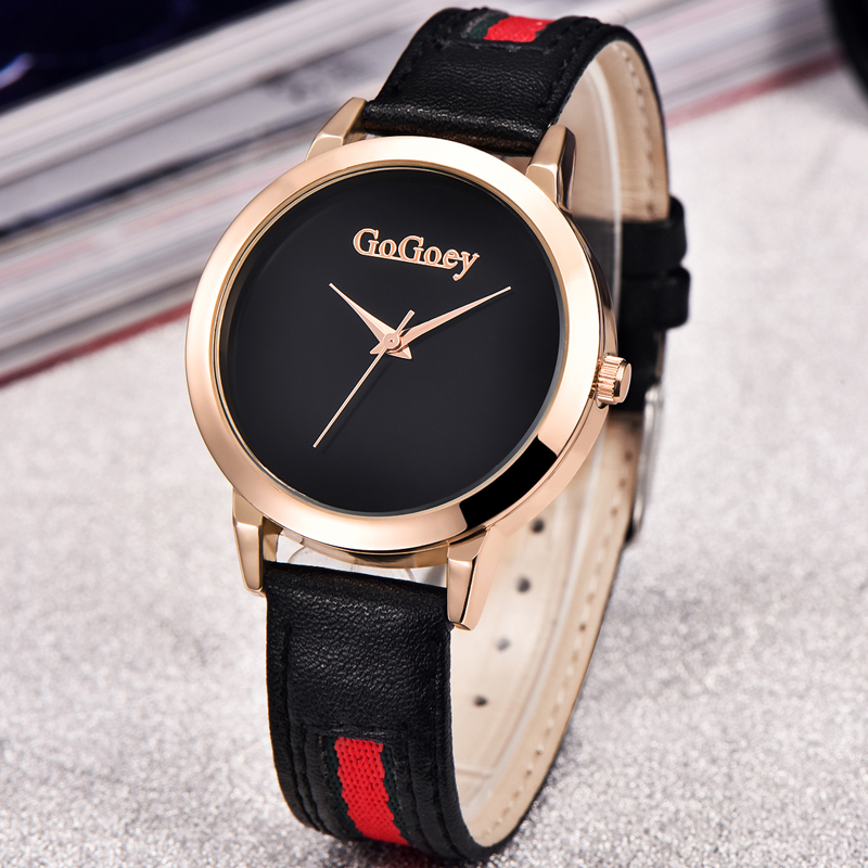 Quartz Watch Women Gogoey Brand Luxury Leather