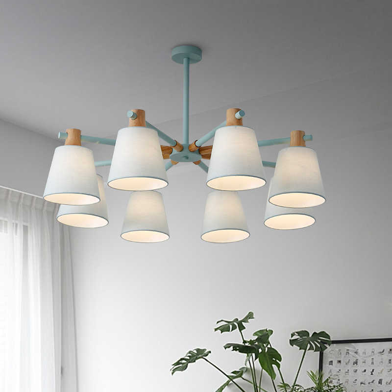 New Arrival LED Chandeliers For Living Room Bedroom colors lampshade Nordic Style Hanging Lights Para Sala De Jantar Home Lamp