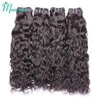 Monstar Необработанные перуанский Волосы remy 3/4 Связки волна воды человеческие волосы естественным волнистые Расширение 12 30 дюймов Бесплатная