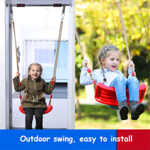 2018 New Bright  Environmental Plastic Garden or Yard Tree Swing Rope Seat Molded for Kids Large Space Color Baby Swing Children