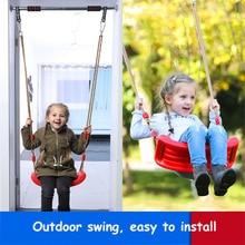 Купить с кэшбэком 2018 New Bright  Environmental Plastic Garden or Yard Tree Swing Rope Seat Molded for Kids Large Space Color Baby Swing Children