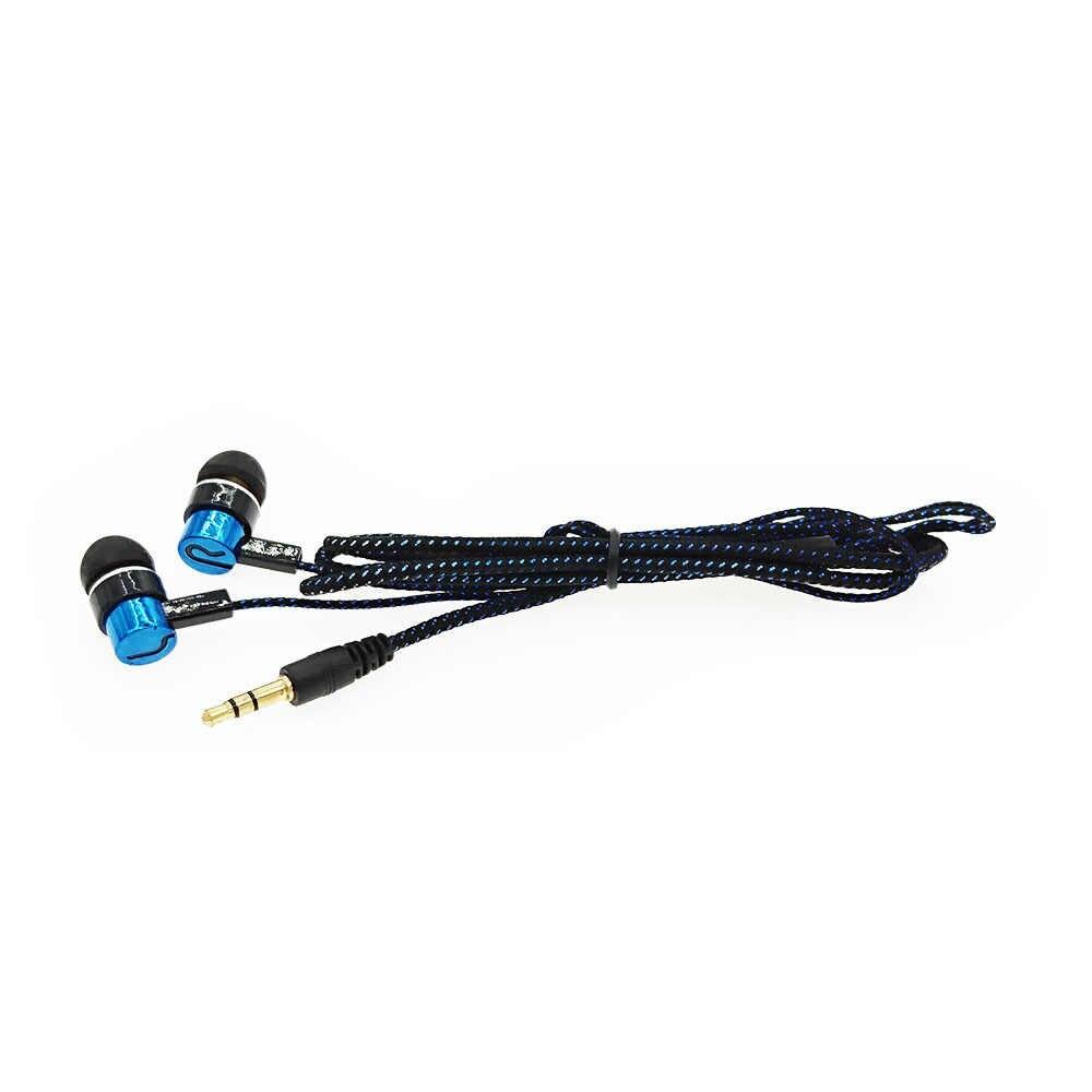 HOMEBARL Stereo Słuchawki sportowe rope końcówka douszna odblaskowe z włókna linii metalowe słuchawki PK słuchawki do Xiaomi MP3 mp4