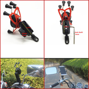 Image 2 - Motorcycle Angled Base W/ 10mm Hole 1 Inch Ball Head Adapter + Double Socket Arm + Universal X Grip Phone Holder for RAM Mount