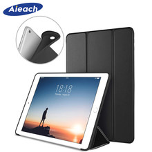 AIEACH Case For Apple iPad Pro 9.7 inch 2016 Soft Silicone Smart PU Leather Magnetic Stand Cover For iPad Pro Case 9.7 Funda(China)