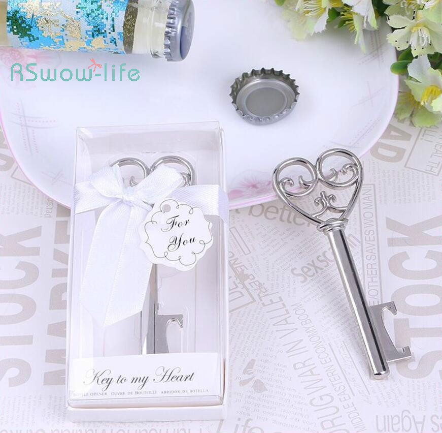Wedding Gifts Love Key Shape Bottle Opener Festival Party Supplies Party Small Prizes in Party Favors from Home Garden