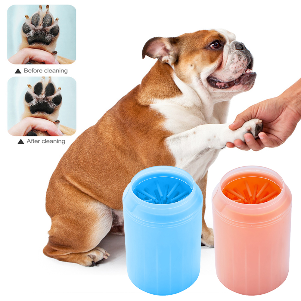 Cleaning Tool For font b Pet b font Dogs Cats Clean Cup Soft Plastic Washing Brush
