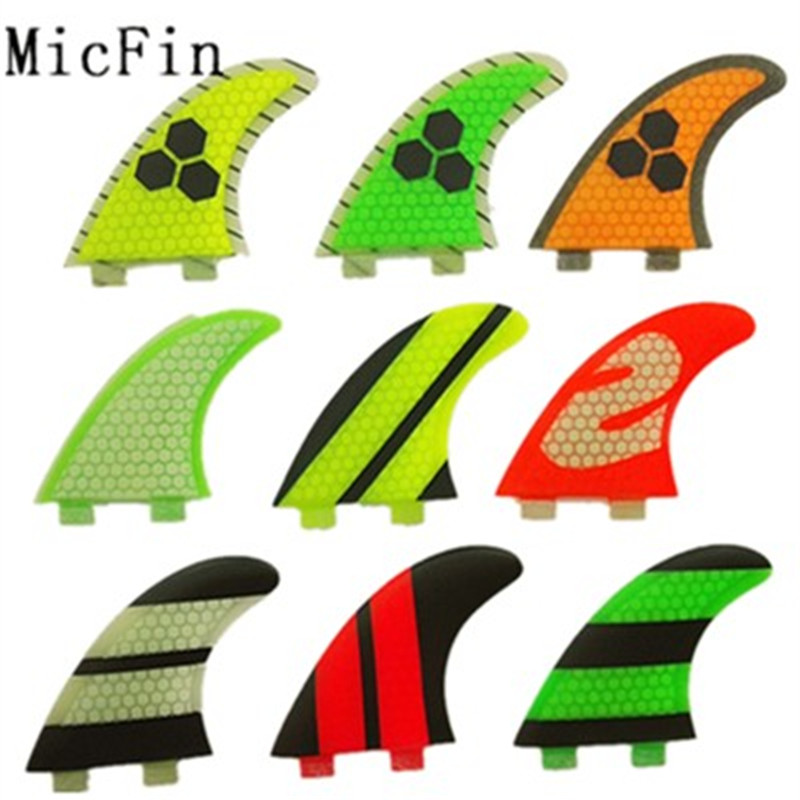 Micfin new quillas تصفح قرص العسل fcs زعانف الفيبرجلاس Surfboard Surf Faming ثلاث زعانف مقاس M-G5