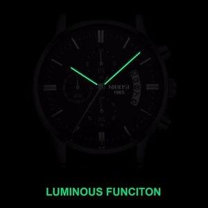 Image 4 - Nibosi Mannen Horloge Relogio Masculino Goud Zwart Heren Horloges Top Brand Luxe Waterdicht Automatische Datum Quartz Horloge Mannen Klok