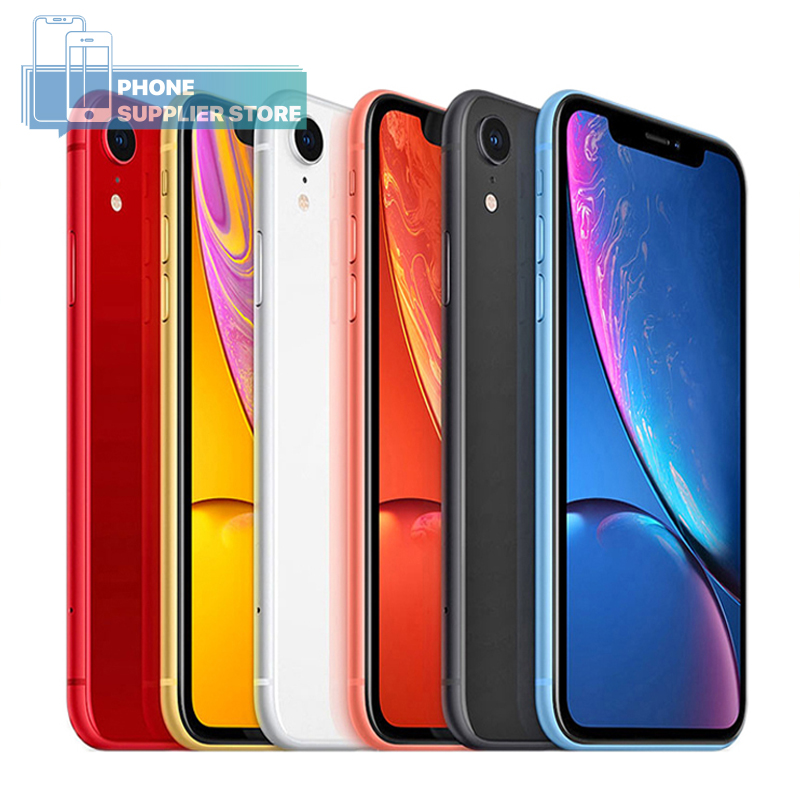 Apple iPhone XR débloqué 4G LTE Smartphone 6.1 pouces Apple A12 hexa-core 12MP caméra Face ID Bluetooth WiFi 64/128/256 GB téléphones