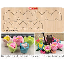 Folded flower  cutting dies 2019 die cut &wooden Suitable for common machines on the market
