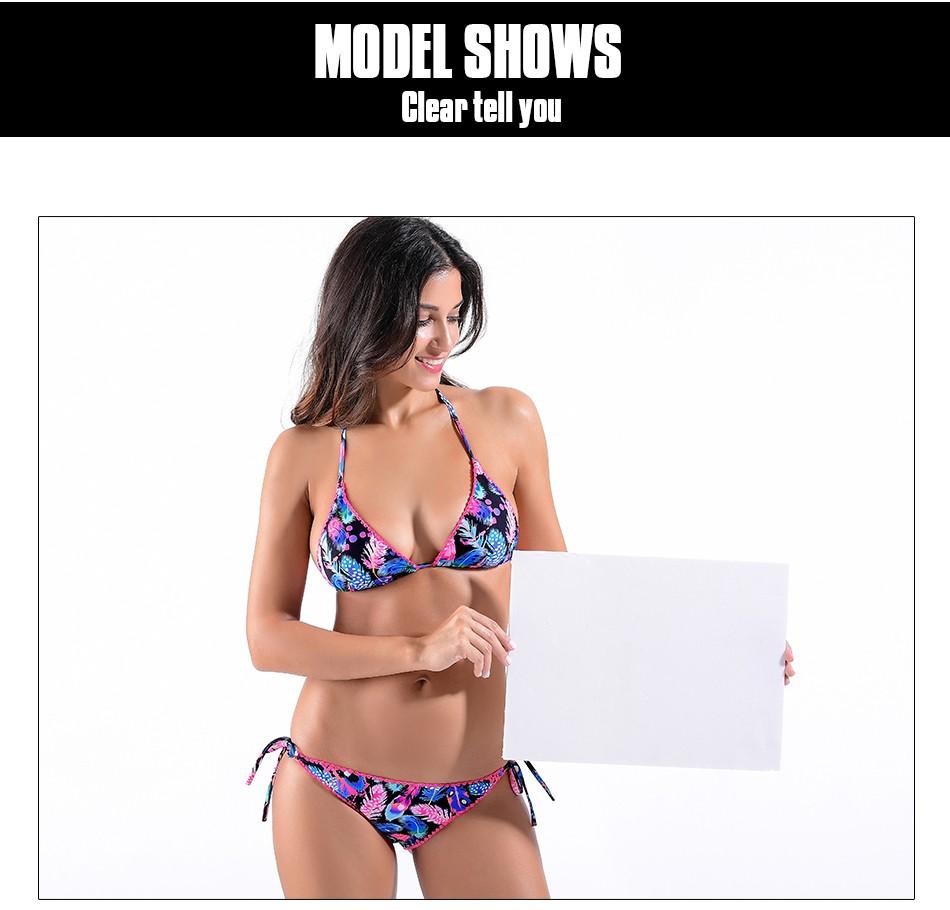 New 17 Retro Sexy Floral Print Bikini Set Swimwear Womens Swimsuit Bathing Suit Beach High Quality Flower Bikinis Women 3