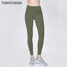 TOIVOTUKSIA High Quality Active Wear Leggings for Gym Women Waist Female Pants