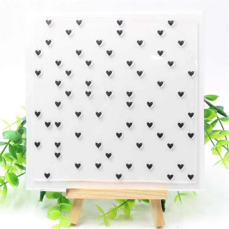 YPP CRAFT Heart Transparent Clear Silicone Stamps for DIY Scrapbooking/Card Making/Kids Fun Decoration Supplies