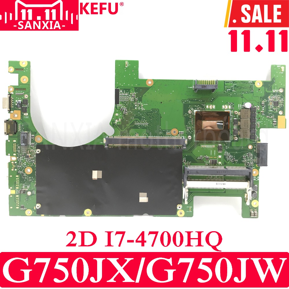 KEFU G750JX Laptop motherboard for ASUS G750JX G750JW G750JH G750J G750 Test original mainboard 2D I7-4700HQ недорго, оригинальная цена