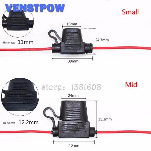 Porte-fusible de voiture moyen   Étanche en ligne pour voiture, Type lame Standard en ligne pour Auto/porte de voiture avec couvercle 1 pièce