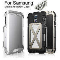 Armor King Iron Man Steel Metal Shockproof Flip Case For Samsung Galaxy S5 S6 S7 / S6 7 EDGE / Note 4 5 Powerful cover case