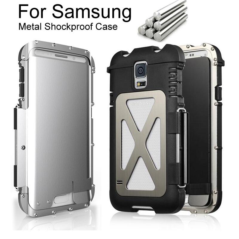 imágenes para El Hombre de Hierro de Acero de Metal A Prueba de Golpes Armor King Flip Case Para Samsung Galaxy S5 S7 S6/S6 7 EDGE/Note 4 5 funda de Gran Alcance