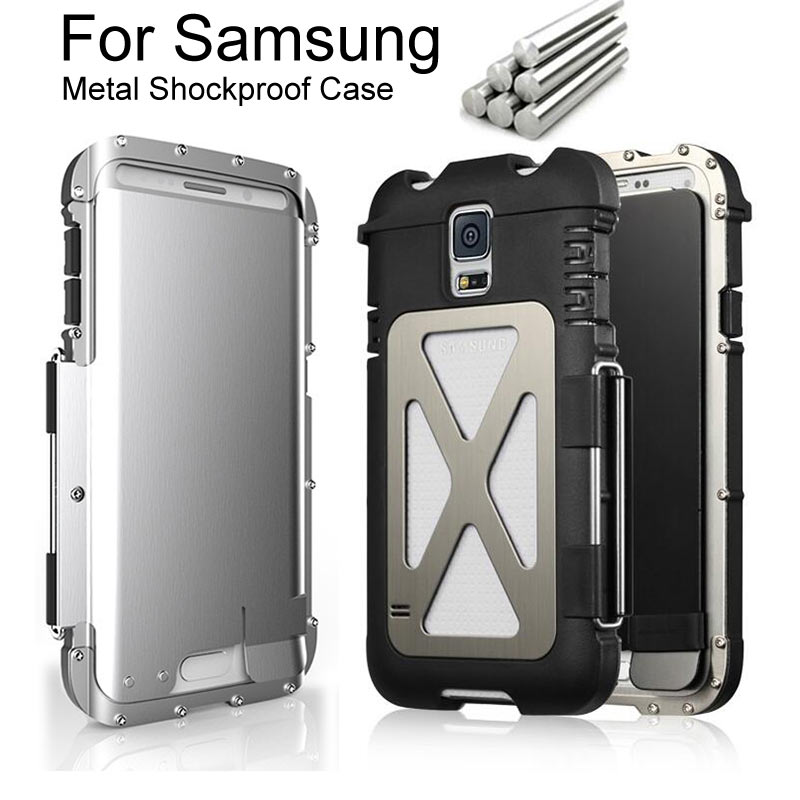 Just Armor King Iron Man Steel Metal Shockproof Flip Case For Samsung Galaxy S5 S6 S7